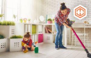 مشارکت کودک در مرتب نگه داشتن منزل