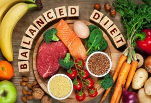 نمودار رژیم غذایی متعادل