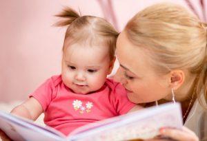 کودک چهار ماهه و کتابخوانی